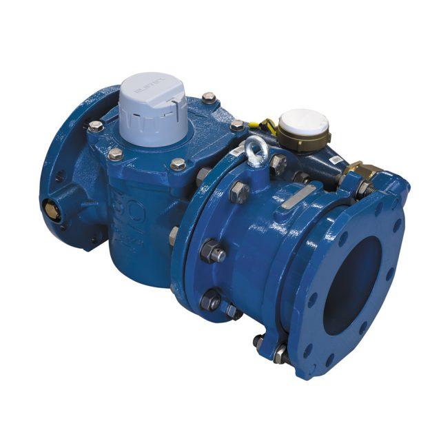 blauer Verbundwasserzähler Helix